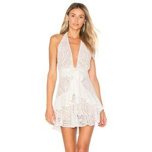 For Love & Lemons Lily Halter Dress